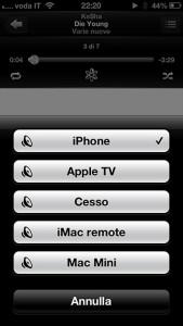 Comandare la musica dall'iPhone